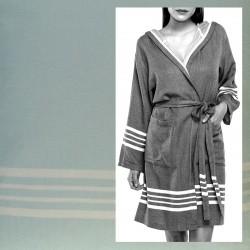 Lalay - sauna badjas met capuchon kleur: mint groen - hamamdoekengeluk